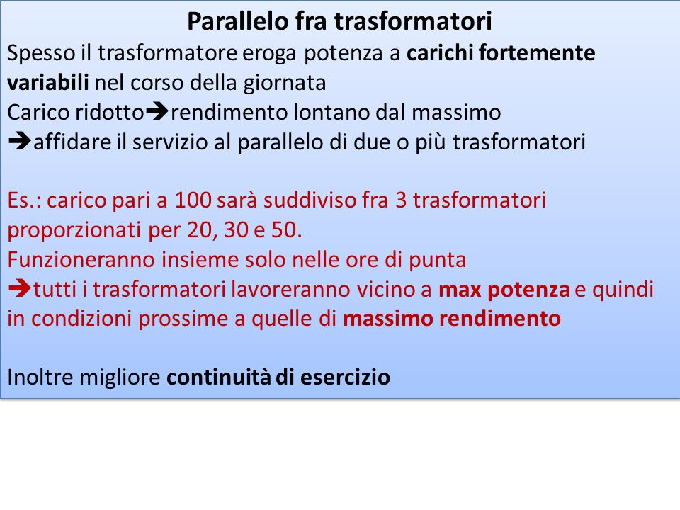 Parallelo fra trasformatori