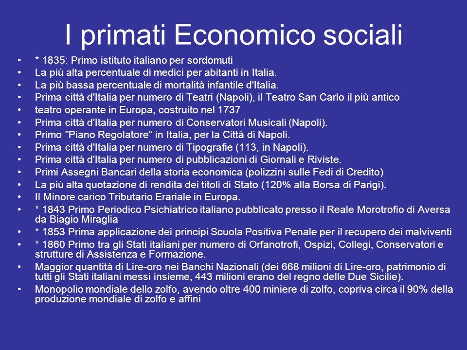 I primati Economico sociali
