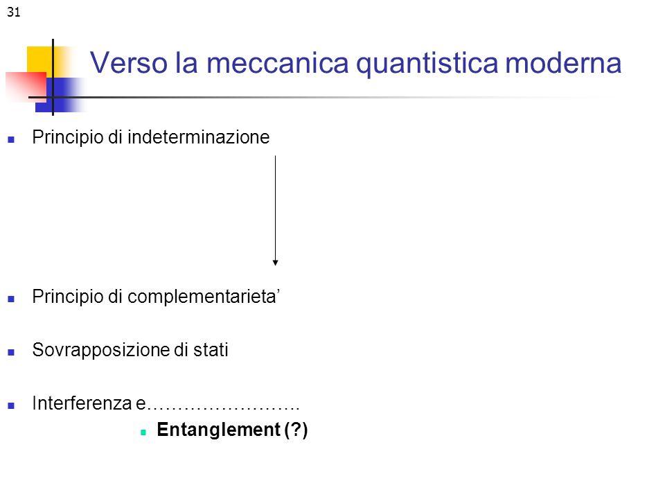 Verso la meccanica quantistica moderna