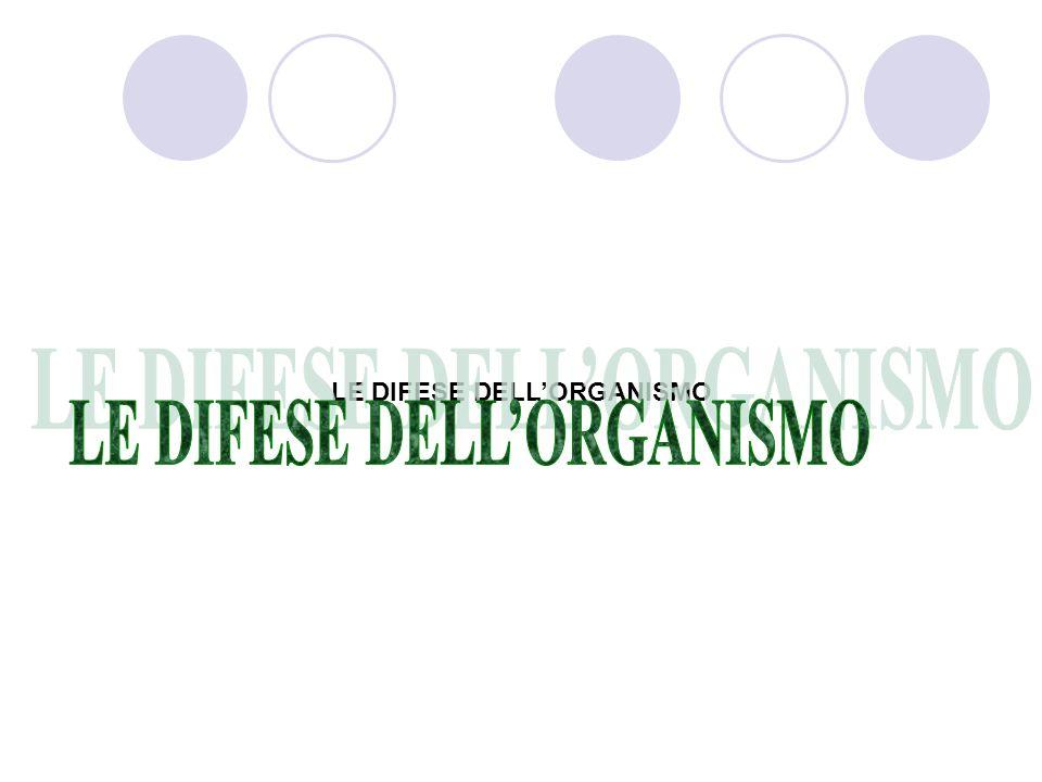 LE DIFESE DELL'ORGANISMO LE DIFESE DELL'ORGANISMO