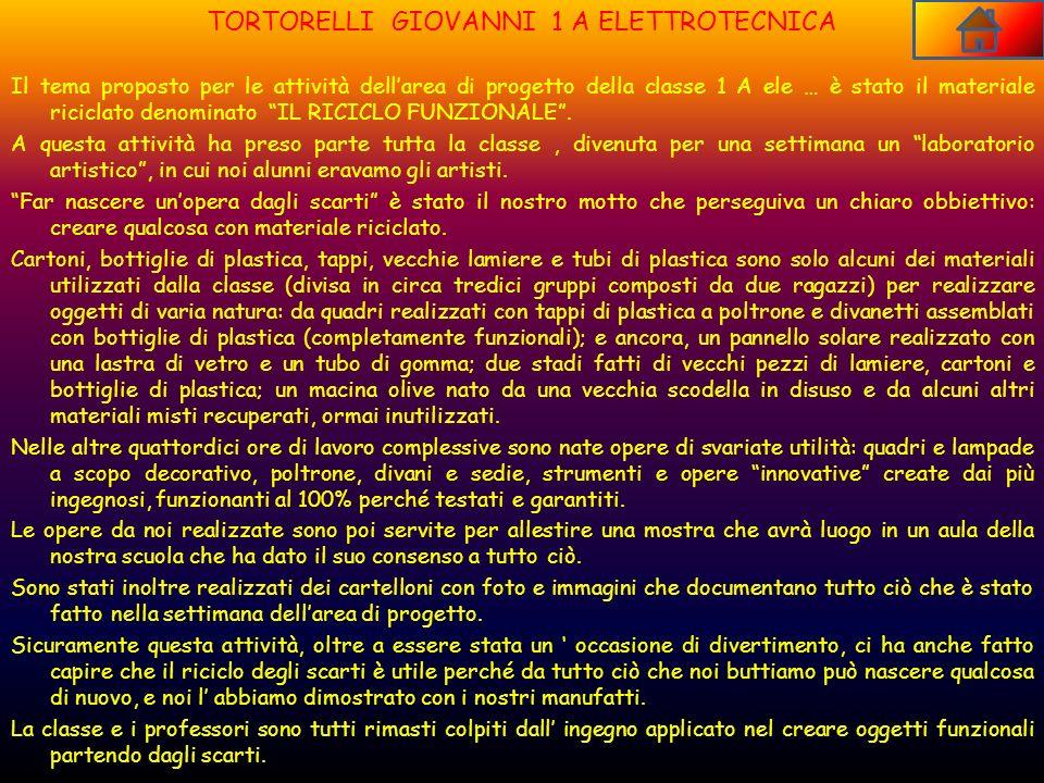 TORTORELLI GIOVANNI 1 A ELETTROTECNICA