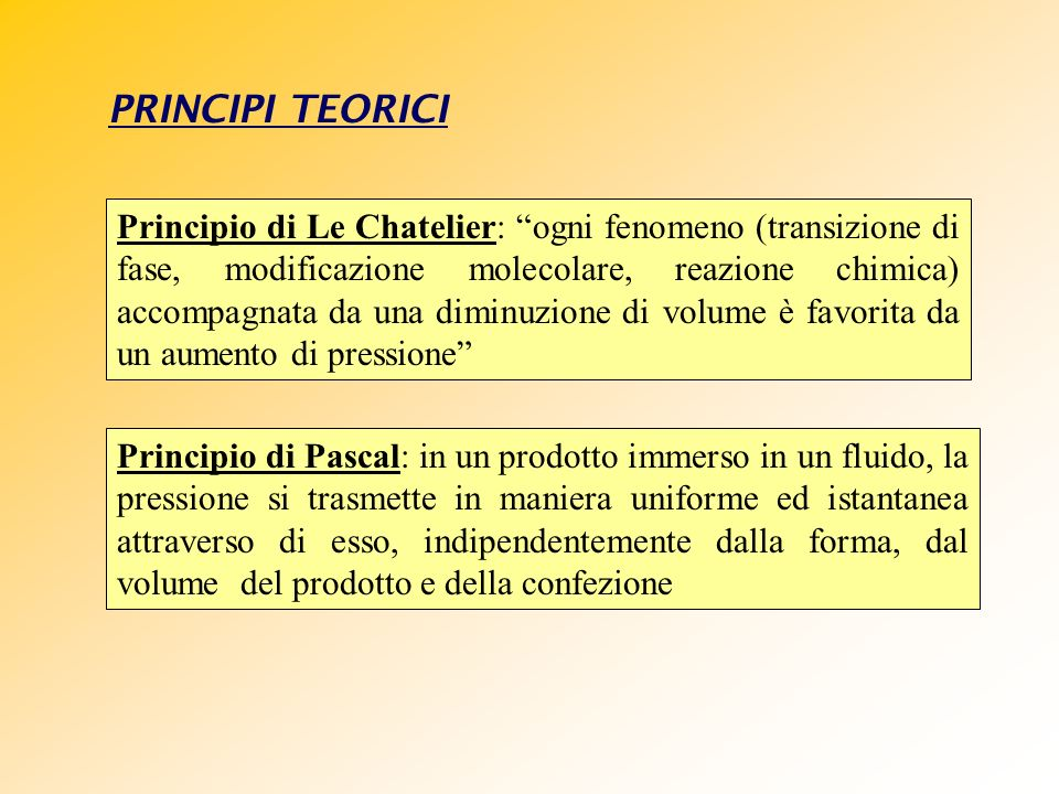 PRINCIPI TEORICI