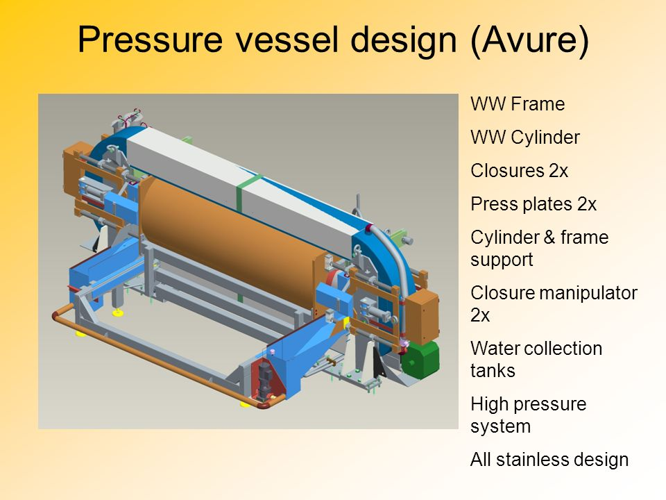 Pressure vessel design (Avure)