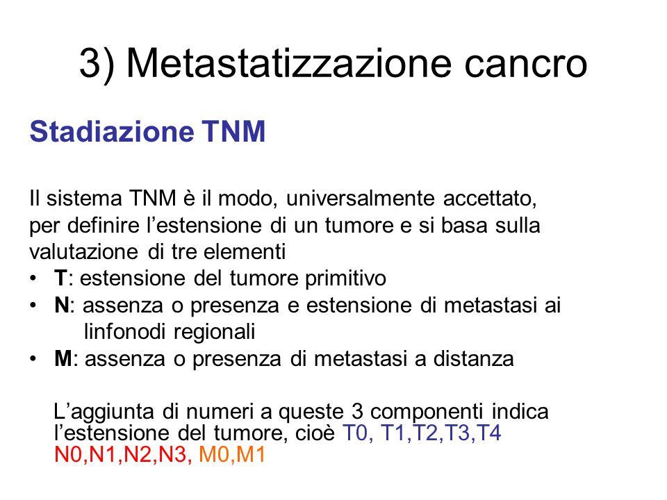 3) Metastatizzazione cancro