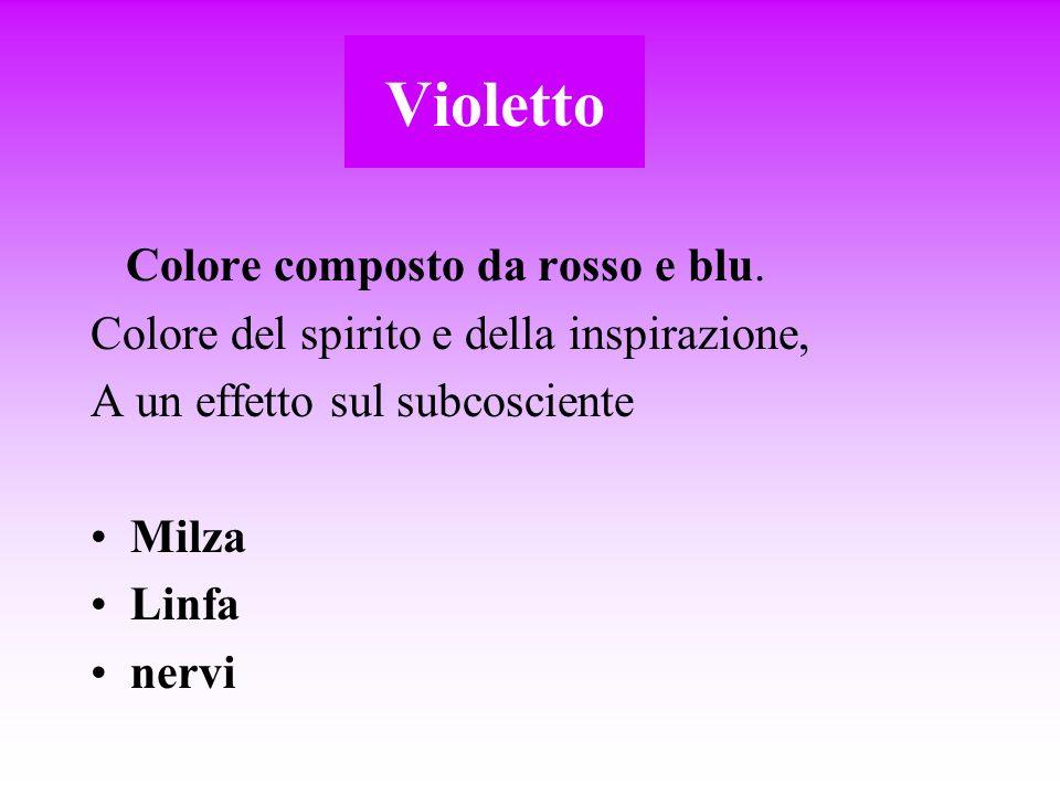 Violetto Colore composto da rosso e blu.