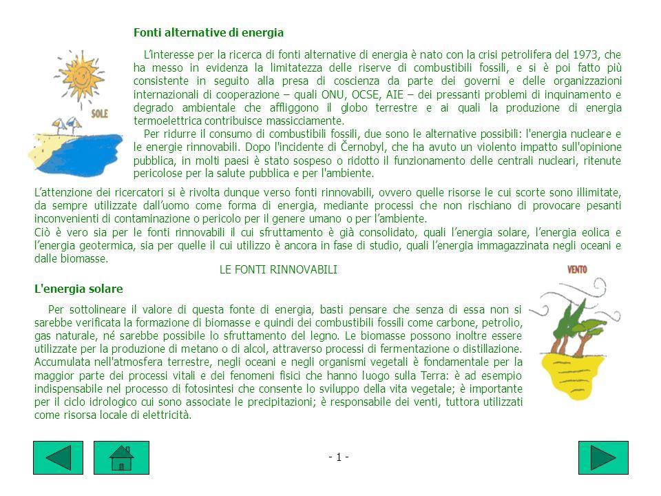 Fonti alternative di energia