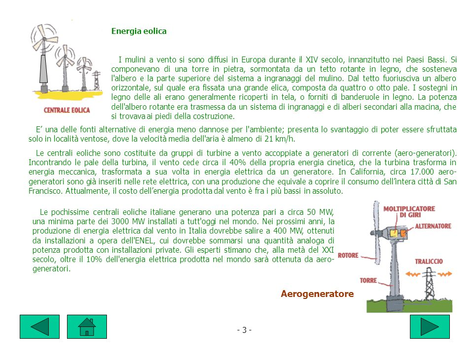 Aerogeneratore Energia eolica