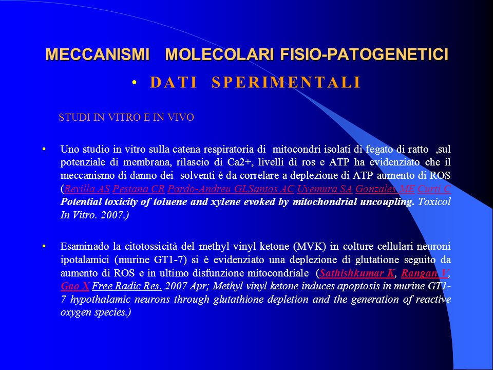 MECCANISMI MOLECOLARI FISIO-PATOGENETICI