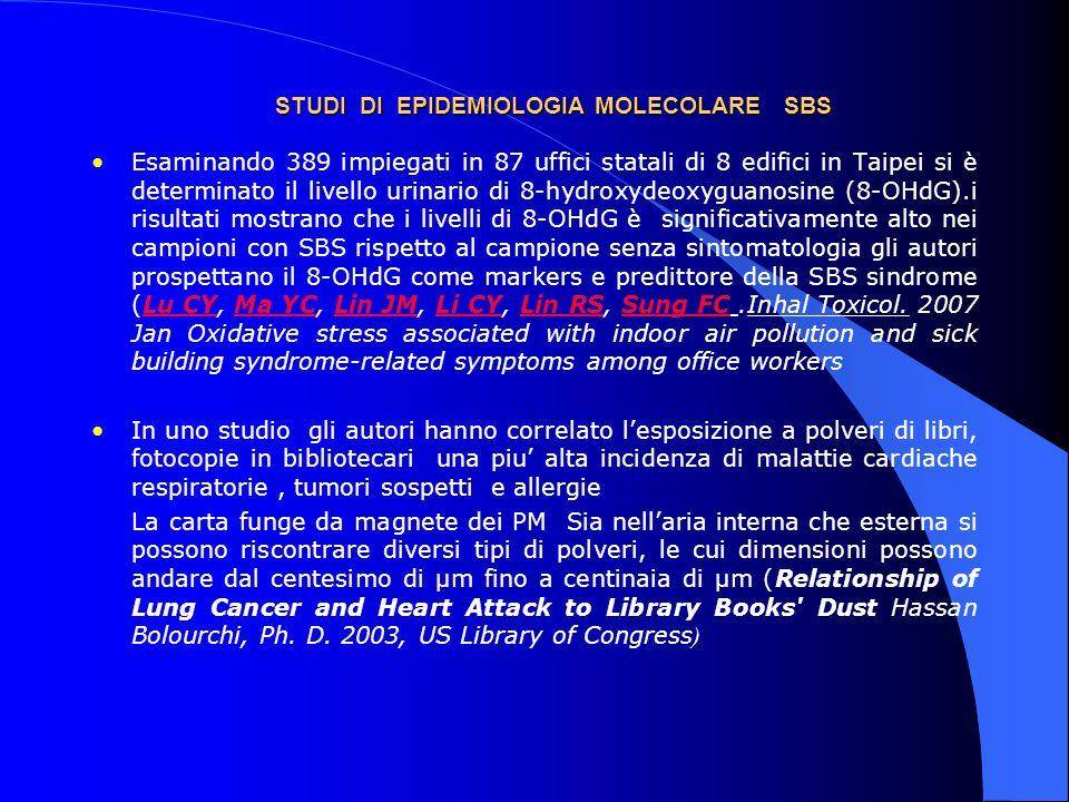 STUDI DI EPIDEMIOLOGIA MOLECOLARE SBS