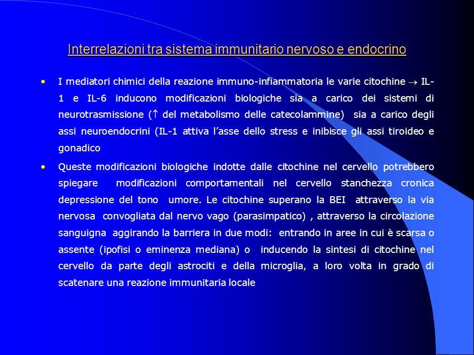 Interrelazioni tra sistema immunitario nervoso e endocrino