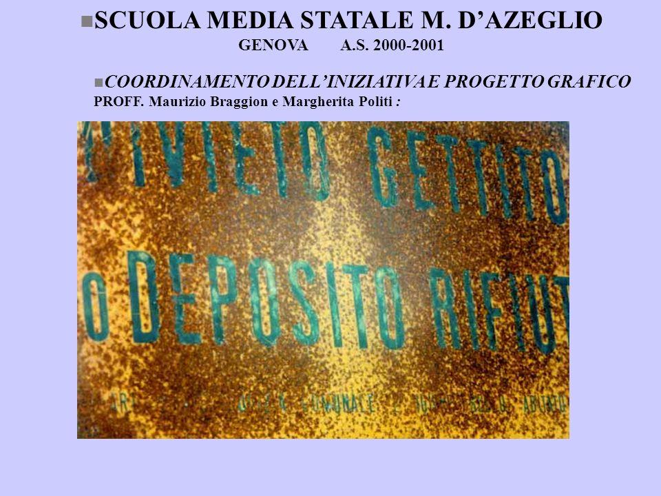 SCUOLA MEDIA STATALE M. D'AZEGLIO GENOVA A.S. 2000-2001