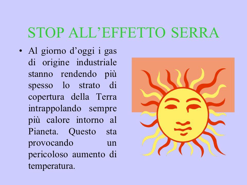 STOP ALL'EFFETTO SERRA