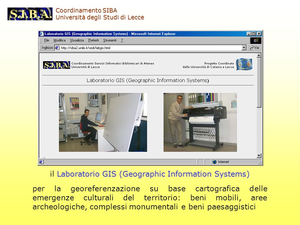 il Laboratorio GIS (Geographic Information Systems)