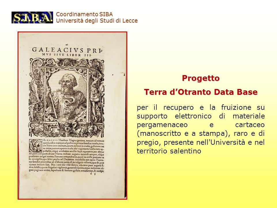 Terra d'Otranto Data Base