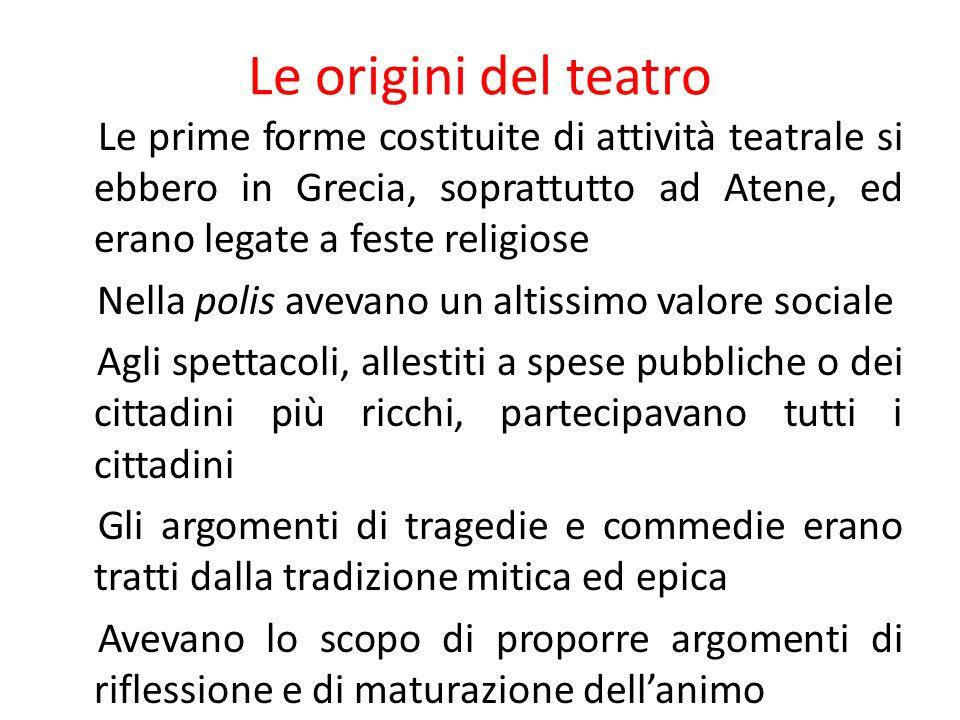 Le origini del teatro