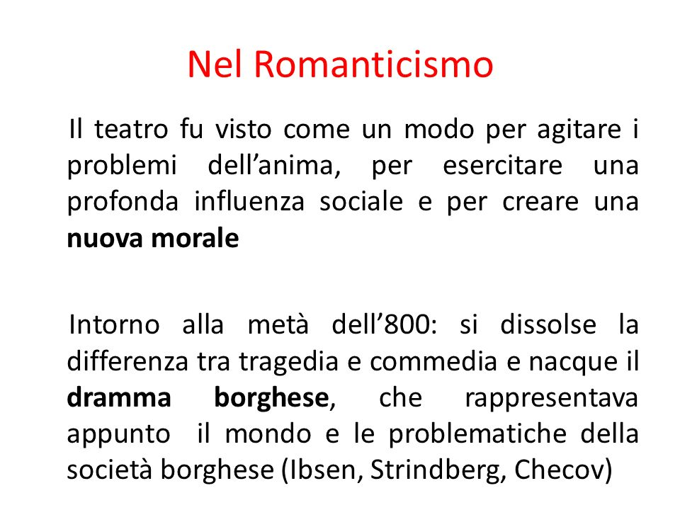 Nel Romanticismo