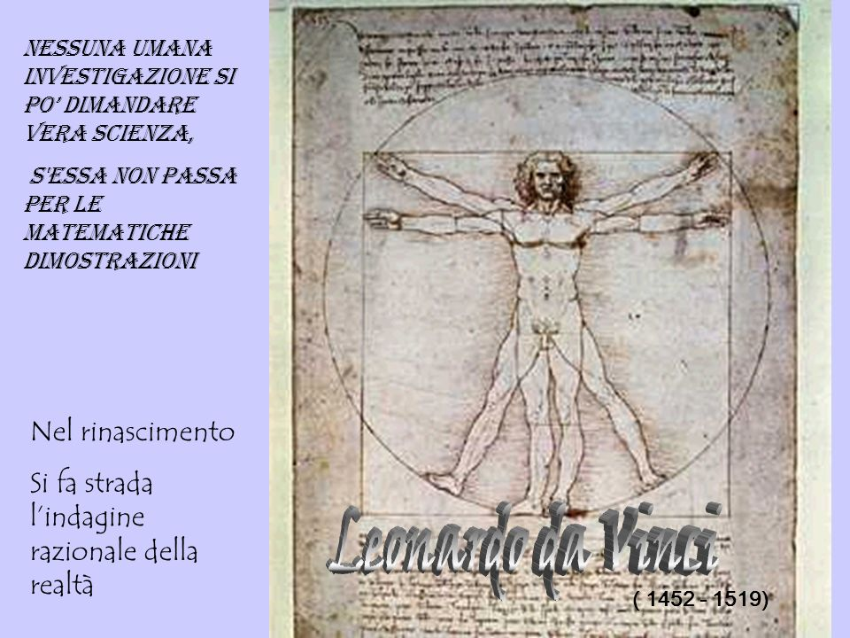 Leonardo da Vinci Nel rinascimento