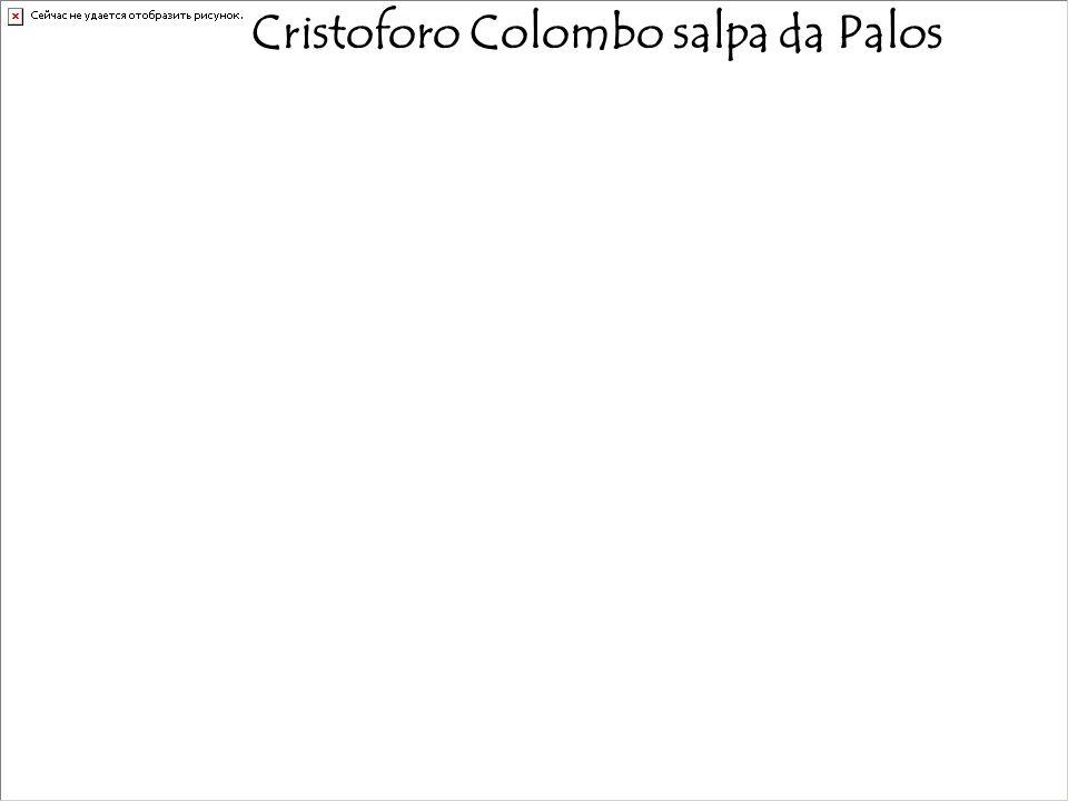 Cristoforo Colombo salpa da Palos