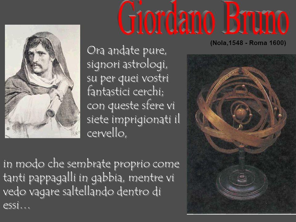 Giordano Bruno Ora andate pure, signori astrologi,