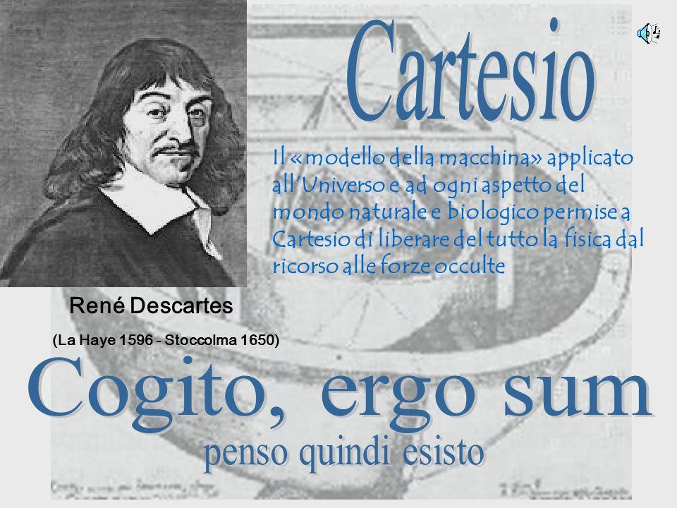 Cartesio Cogito, ergo sum penso quindi esisto