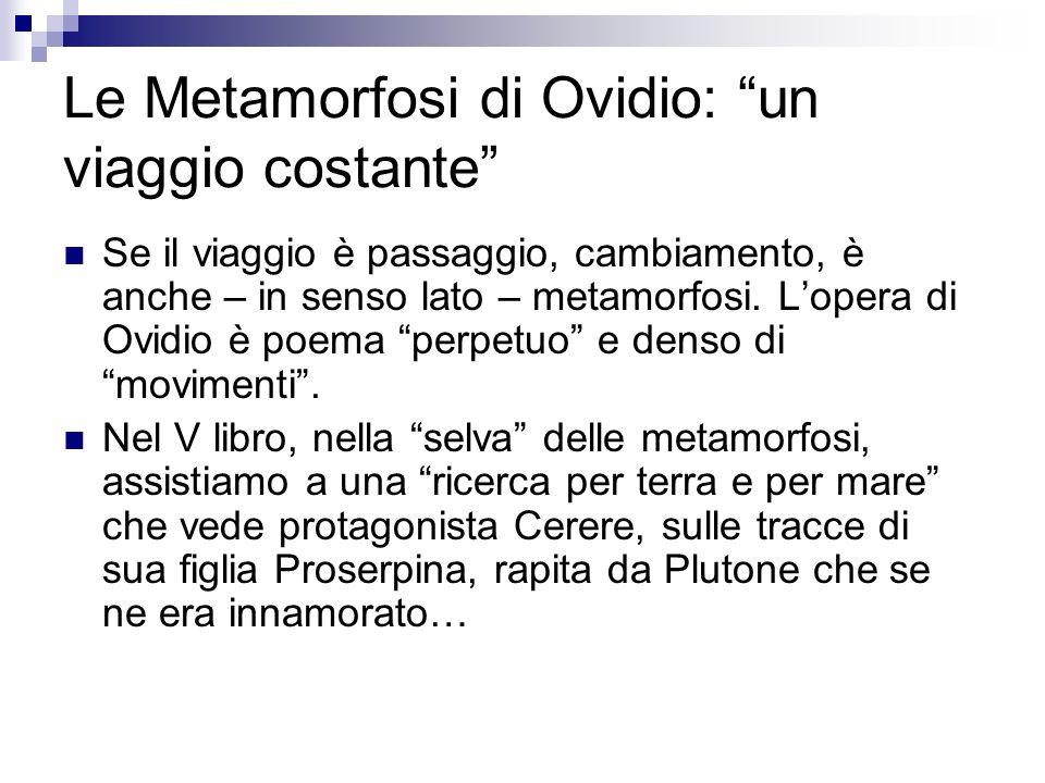 Le Metamorfosi di Ovidio: un viaggio costante