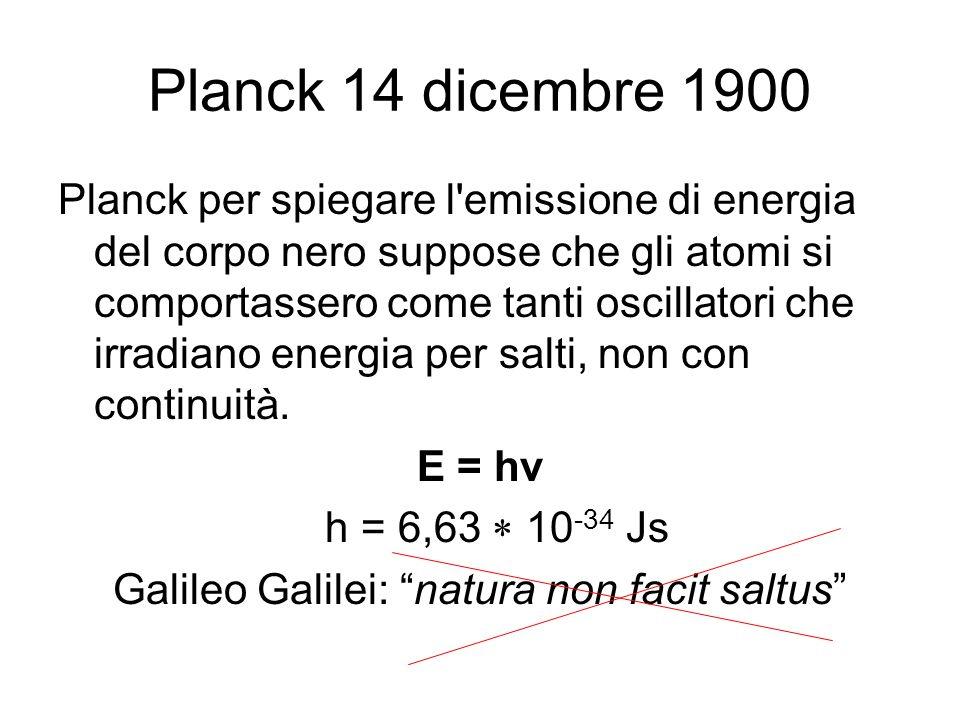Galileo Galilei: natura non facit saltus