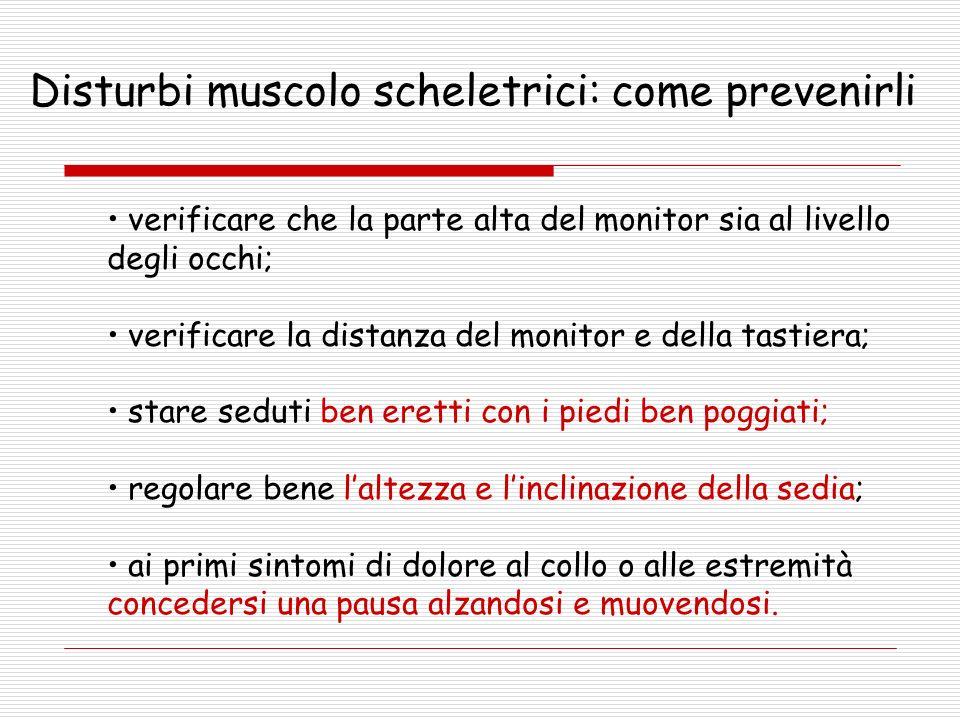 Disturbi muscolo scheletrici: come prevenirli