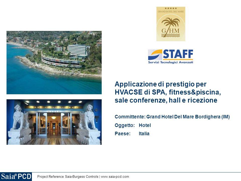 Applicazione di prestigio per HVACSE di SPA, fitness&piscina, sale conferenze, hall e ricezione