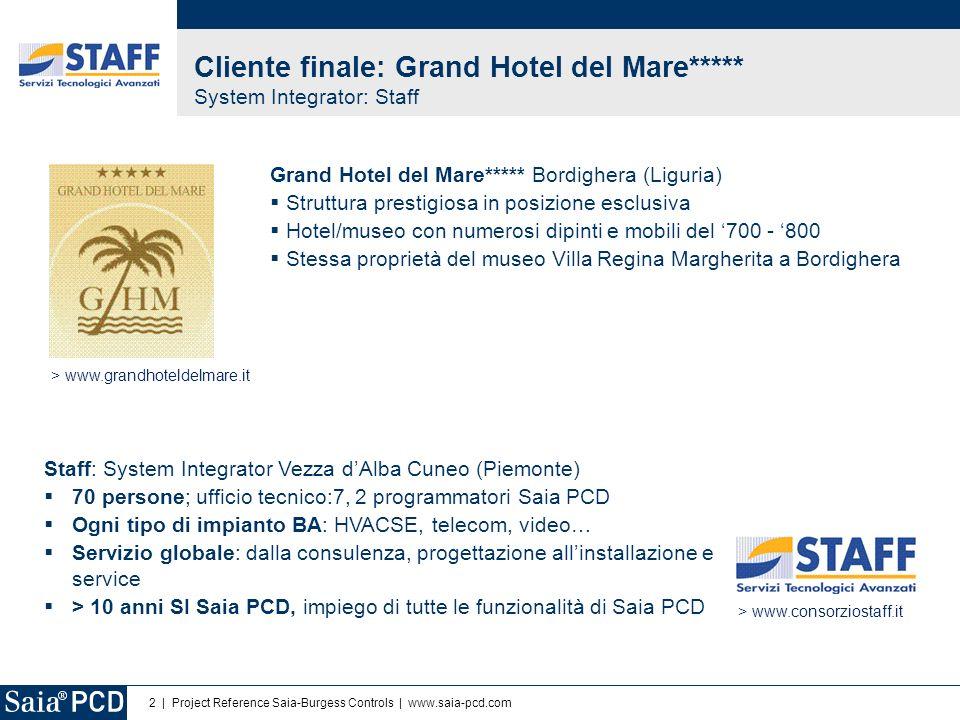 Cliente finale: Grand Hotel del Mare***** System Integrator: Staff