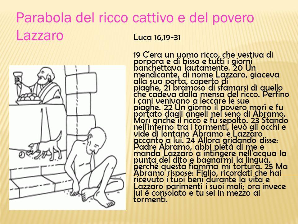 Parabola del ricco cattivo e del povero Lazzaro
