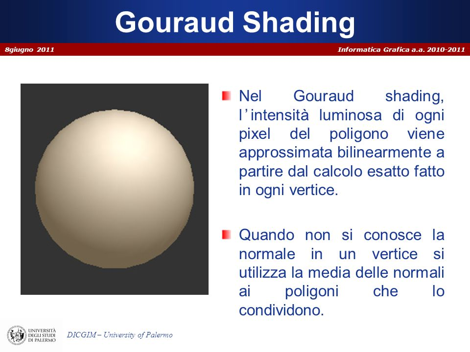 Gouraud Shading 8giugno 2011.