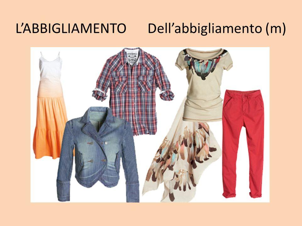 L'ABBIGLIAMENTO Dell'abbigliamento (m)