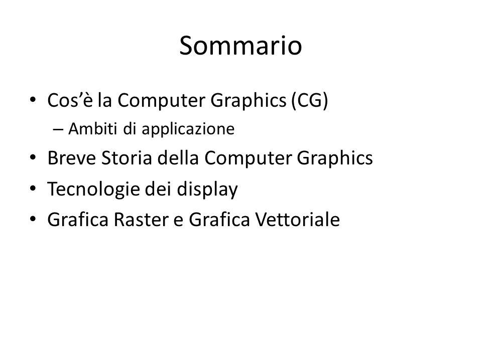 Sommario Cos'è la Computer Graphics (CG)