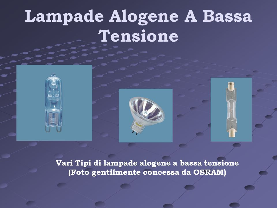 Lampade Alogene A Bassa Tensione