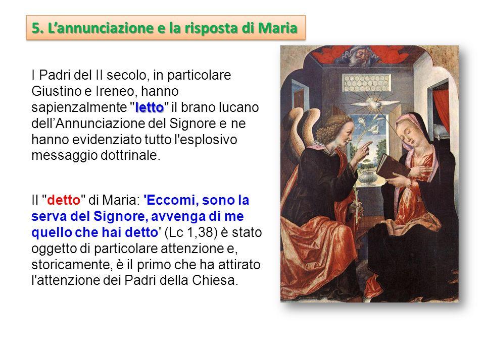 5. L'annunciazione e la risposta di Maria