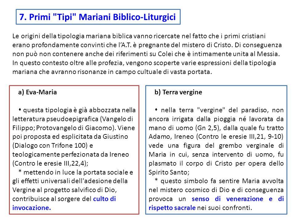 7. Primi Tipi Mariani Biblico-Liturgici