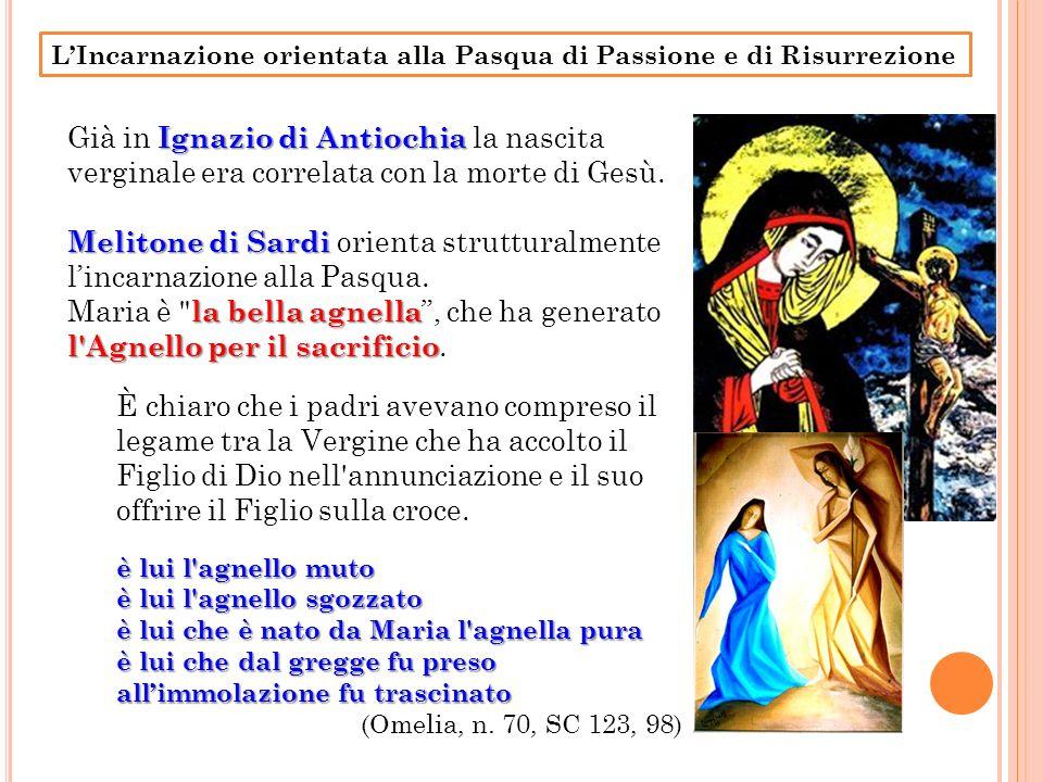 Melitone di Sardi orienta strutturalmente l'incarnazione alla Pasqua.
