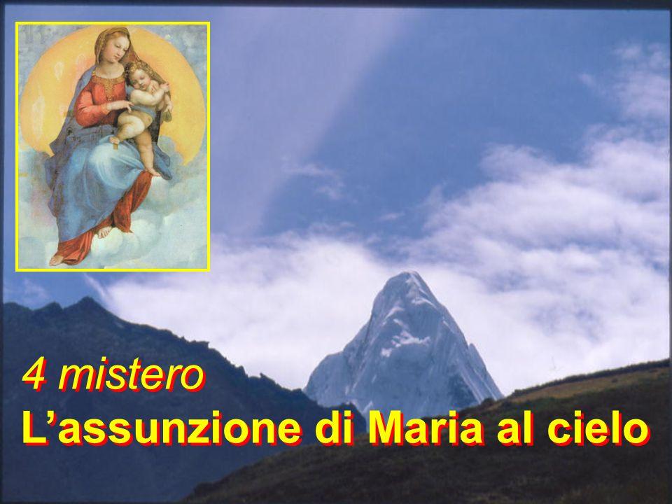 4 mistero L'assunzione di Maria al cielo