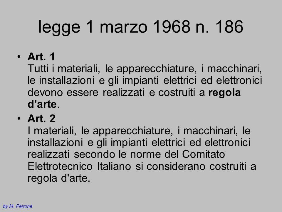 legge 1 marzo 1968 n. 186
