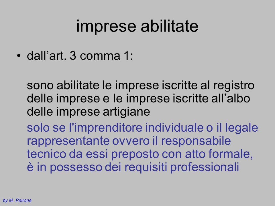 imprese abilitate dall'art. 3 comma 1: