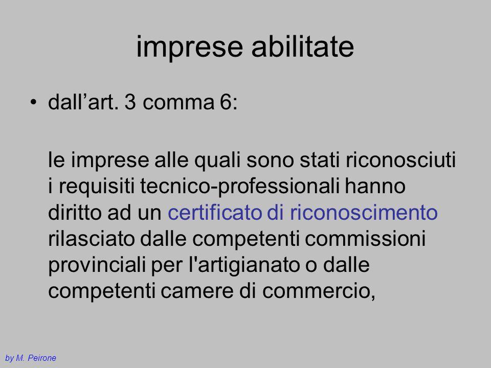 imprese abilitate dall'art. 3 comma 6: