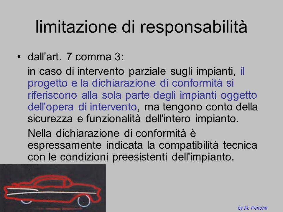 limitazione di responsabilità