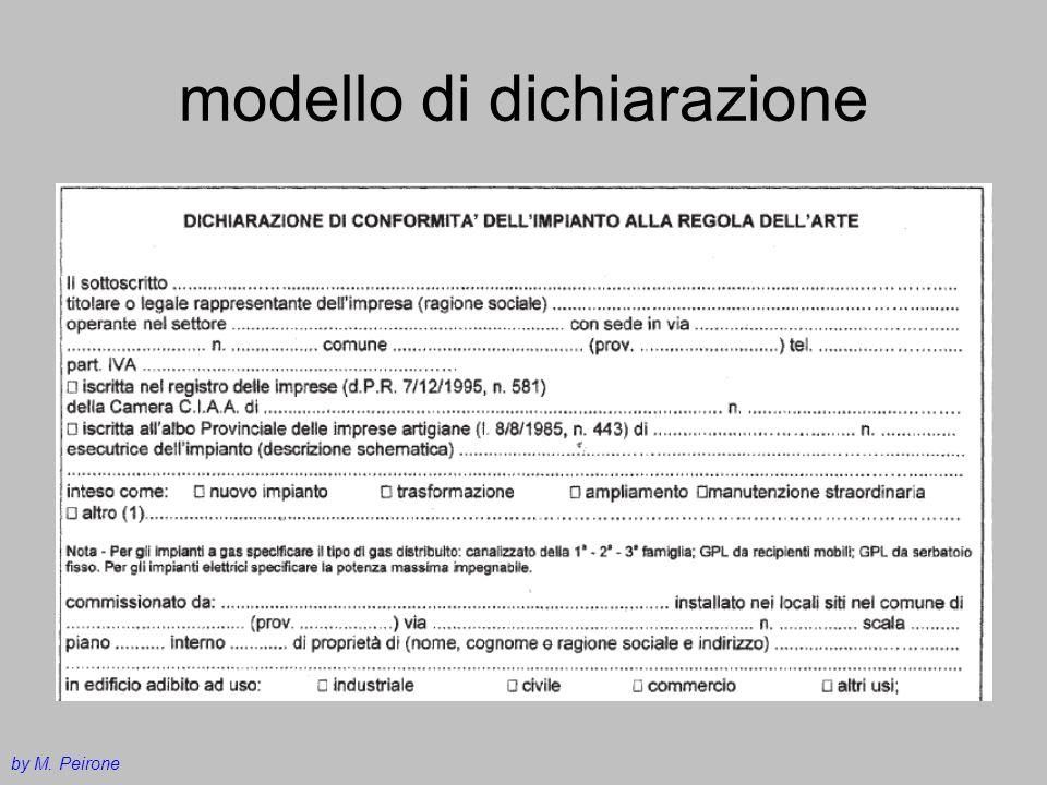 modello di dichiarazione