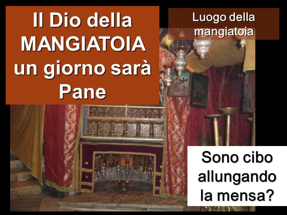 Il Dio della MANGIATOIA un giorno sarà Pane