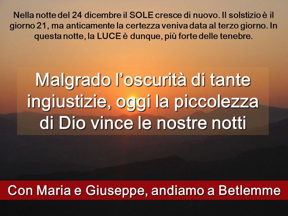 Con Maria e Giuseppe, andiamo a Betlemme