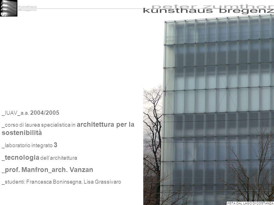 Kunsthaus kunsthaus bregenz Bregenz peter zumthor _IUAV_a.a. 2004/2005
