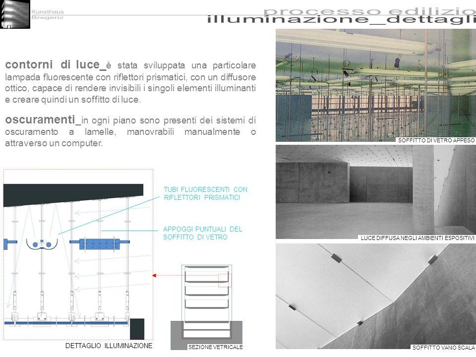 Kunsthaus processo edilizio. Bregenz. illuminazione_dettagli.