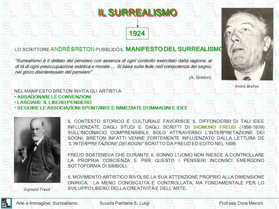 IL SURREALISMO 1924. LO SCRITTORE ANDRÉ BRETON PUBBLICÓ IL MANIFESTO DEL SURREALISMO.