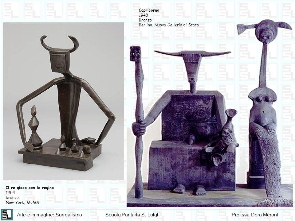 Capricorno 1948. Bronzo. Berlino, Nuova Galleria di Stato. Il re gioca con la regina. 1954. bronzo.