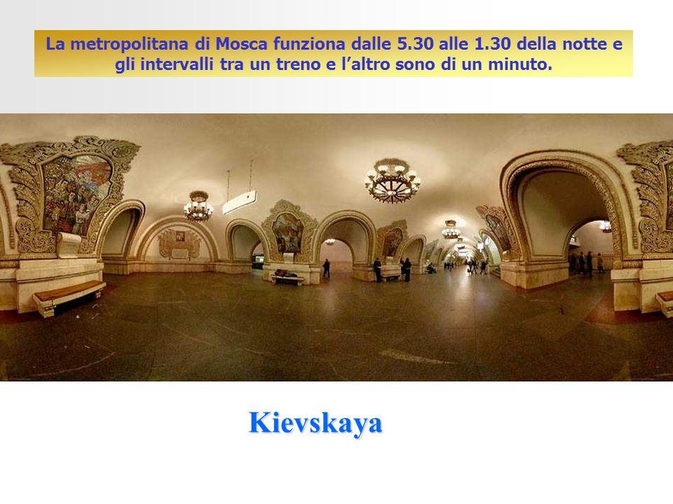 La metropolitana di Mosca funziona dalle 5. 30 alle 1